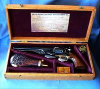 1861 COLT STYLE NAVY REVOLVER WITH CASED SET.  SER # P87851