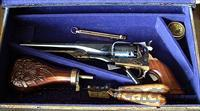 *REDUCED* PIETTA .36 CAL COLT STYLE 1862 NAVY  PERCUSSION REVOLVER CASED SET