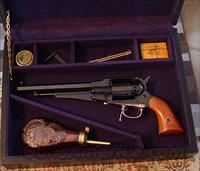 *REDUCED PRICE* ARMI SAN MARCO .44 CAL REMINGTON STYLE PERCUSSION REVOLVER CASED SET