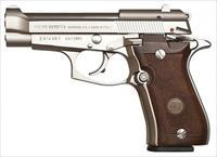 BERETTA 84FS CHEETAH 380ACP NICKEL WOOD