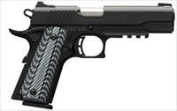 BRO 1911-380 380ACP BLK LABEL G10 FS NS RAIL