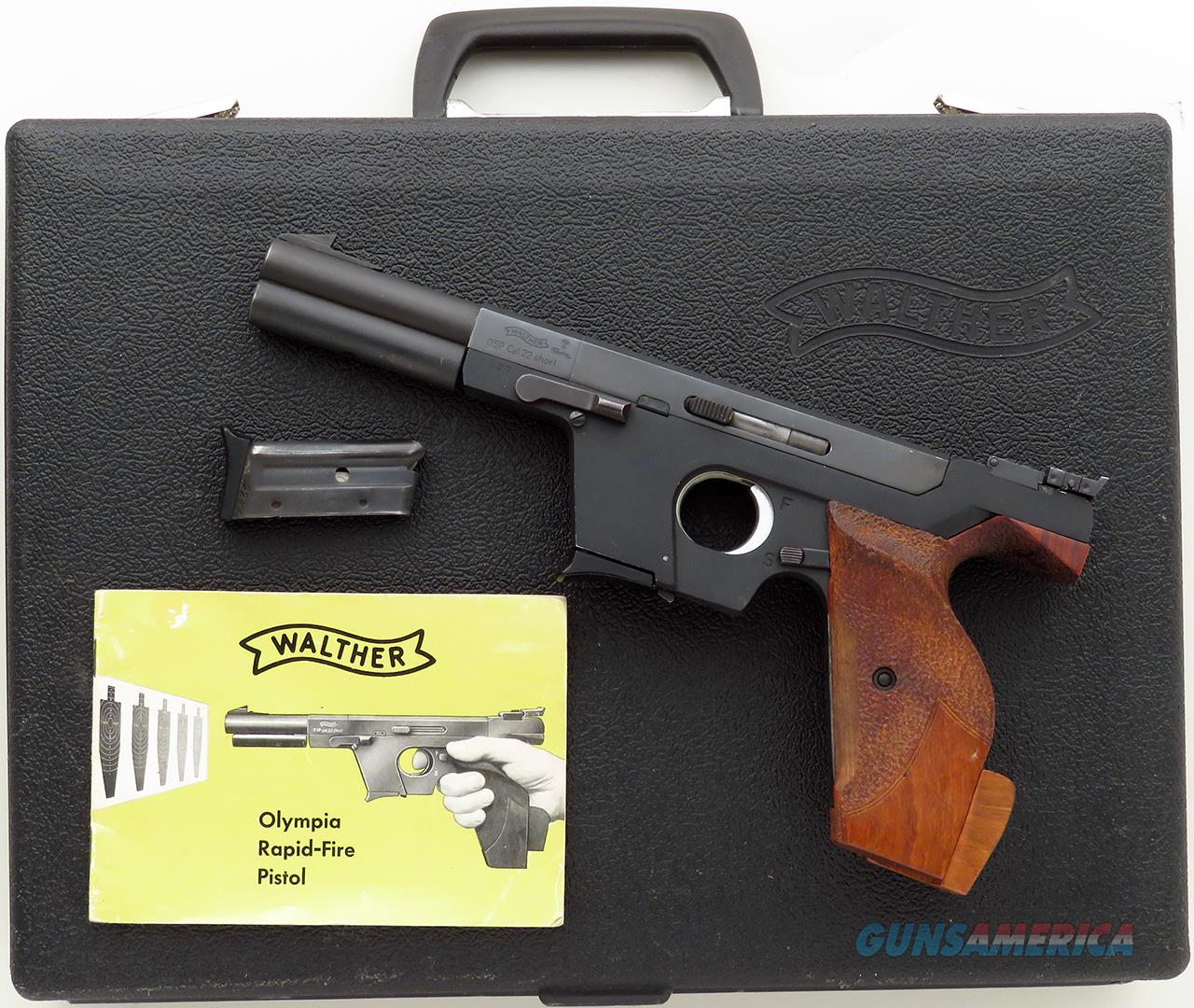 walther osp 22 short 1969 4 5 inch 4 port for sale