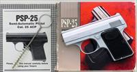 Precision Small Arms PSP-25 .25 ACP, Charlottesville, 1995, tiny, 2.15-inch, box, papers, mint