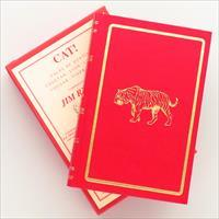 Cat!, Tales of Hunting Cheetah, Lion, Leopard, Cougar, Tiger & Jaguar, Amwell Press, leather, illustrated slip