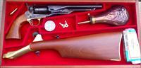 Navy Arms Colt 1860 Army, shoulder stock, wood case, unfired