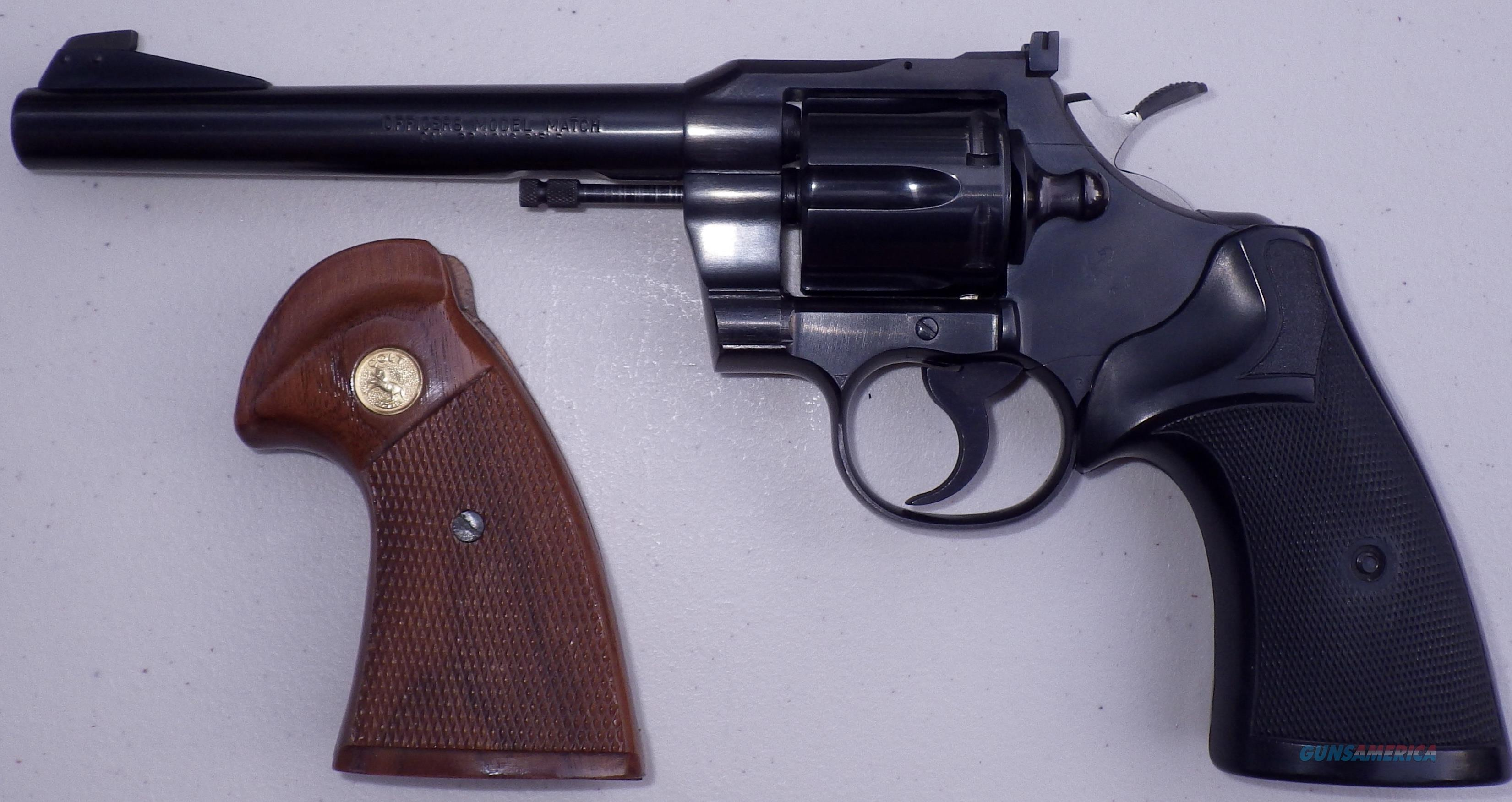 colt officers model match 22 serial numbers