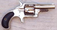 Remington Number 4 revolver, .41 Rimfire, nickel, hard rubber grips