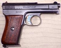 Mauser Model 1910 6.35mm (.25), matching, wood, 80%