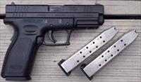 Springfield XD .40 S&W, 4-inch, three 12-round mags, case with extras