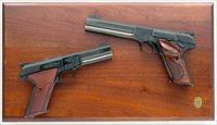 Colt Woodsman Match Target factory engraved pair, .22 LR, Spring, gold, cased, 1983, lettered, superlative, layaway