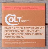 Colt Single Action Army Sheriff's / New Frontier instruction manual, new condition