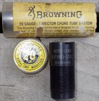 Browning 20 gauge Invector choke tube, modified (lead) and IM (steel), as new