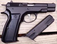 CZ-75 9mm, Bauska import, appears unfired, 2 magazines