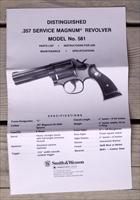 S&W Model 581 original 4-page manual