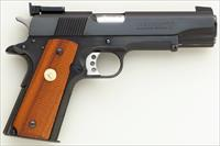 Clark Custom .45 ACP, Colt Gold Cup National Match Series 80, 1990, Bo-Mar, flat top, serrated, slide guide, 97%, layaway