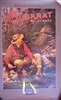 Remington Muskrat Knife poster, 1990s reprint, never displayed