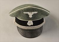 Waffen SS officer's peaked cap, authenticated, fantastic condition