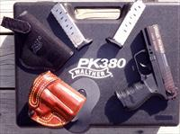 Walther PK380 First Edition, 3 mags, 2 holsters, case, new & unfired, serial #36