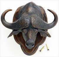 Bronze Cape buffalo door knocker by Carole Danyluk, new condition, limited edition