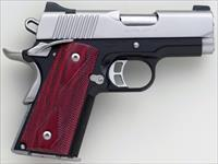 Kimber Ultra CDP II 9mm, 3-inch bull barrel, stainless slide, night sights, front strap checkering