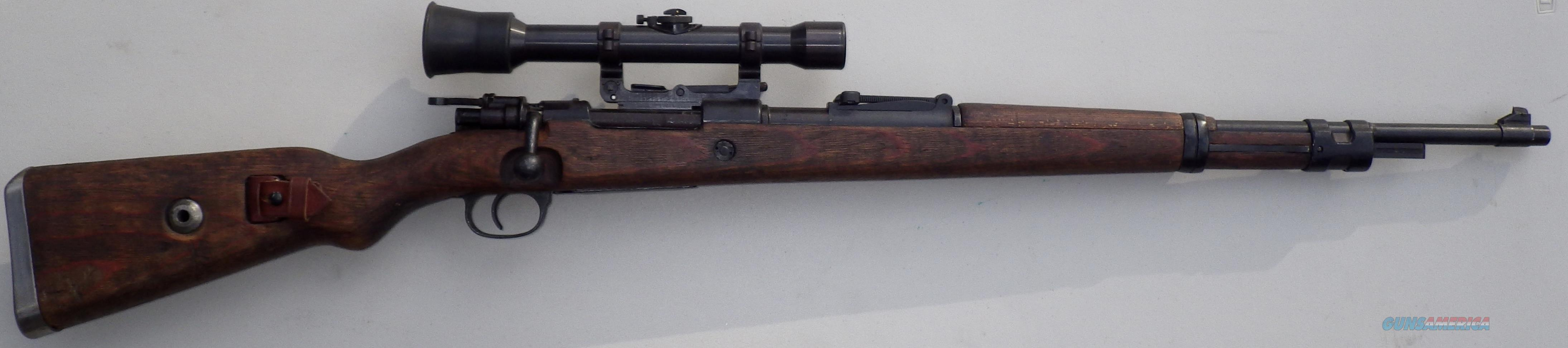 Mauser K98k ZF39 Sniper, reproduction with scope and extended safety