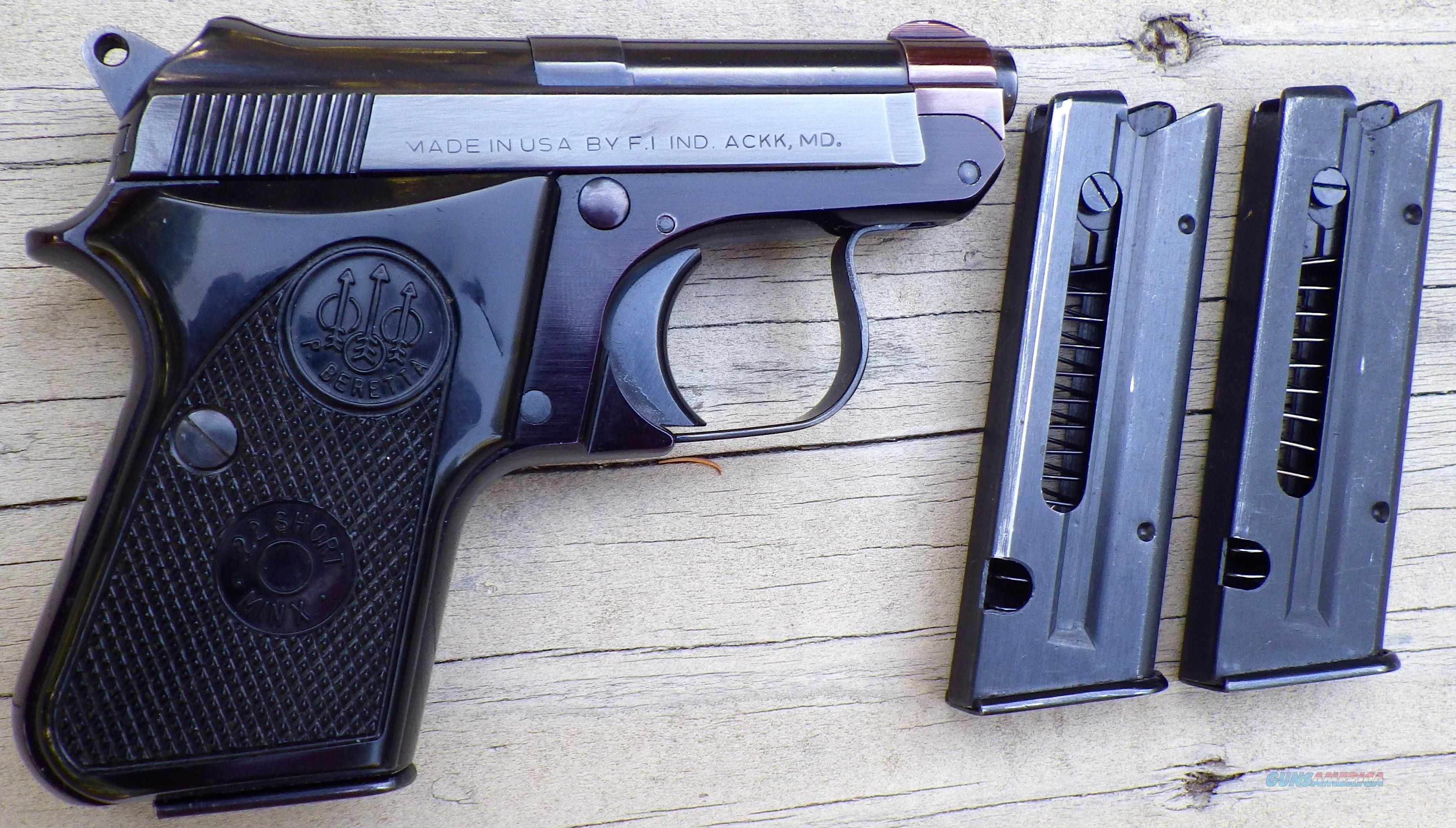 Beretta 950 BS Minx  22 Short, 3 mags, possibly unfired