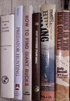 Six hunting books, Boone & Crockett, Bynum, Darner, Russell and others