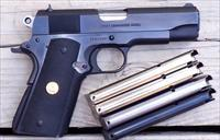 Colt Commander .38 Super, Series 80, steel frame, 5 magazines