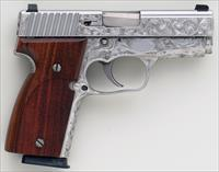 Kahr K40 .40 S&W, engraved, stainless, wood grips, seven magazines, exceptional, layaway