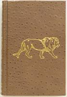 Hunting the African Lion, Amwell, leather, gilded, ribbon, limited edition of 1000