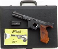 "Walther OSP .22 Short, 1969, 4.5-inch, 4 port, 2 mags., target grips, factory ""Briefcase"", manual, California OK"