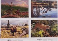 Remington Wildlife Art Collection 1991 set of four wildlife posters