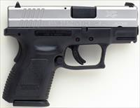 Springfield XD-9 Sub-Compact 9mm, stainless slide, 3-inch, two mags, accessories, NIB