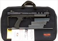 Feather Industries AT-22 .22 LR, 1991, retractable, aperture, 3 20-rounders, unfired, case