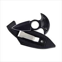 Absolute Fixed Push  Dagger, All Black w/Utility Sheath / E