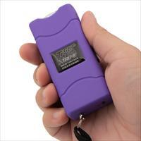 Purple Small Quantum Tiger USA Xtreme Stun Gun 96V with Leather Case