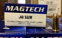 500 Rounds Magtech 40 S&W Ammo - 180 Grain FMJ