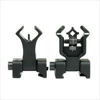 Flip Up Iron Sights AR15 & AR10 BUIS - Aluminum - Better than Magpul