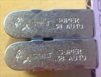 2 COLT 1911 38 Super NICKEL 9 Round Factory Magazines  - 50225N
