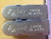2 COLT 1911 38 Super NICKEL 9 Round Factory Magazines