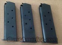 3 Checkmate 1911 7 Rd Blued Dimpled Magazines