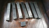 Lot of 7 cobray m11/9 magazines m11 steel feed lips mag loader