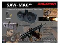 ARMATAC SAW-MAG sawmag 150 rounds AR15 Drum