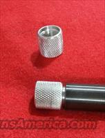 Thread Protector 1/2 28 1/2x28 MUZZLE BREAK SILVER KNURLED BCM CMMG 10/22