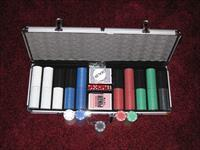 Texas Holdem Chip, Dice, Card Set