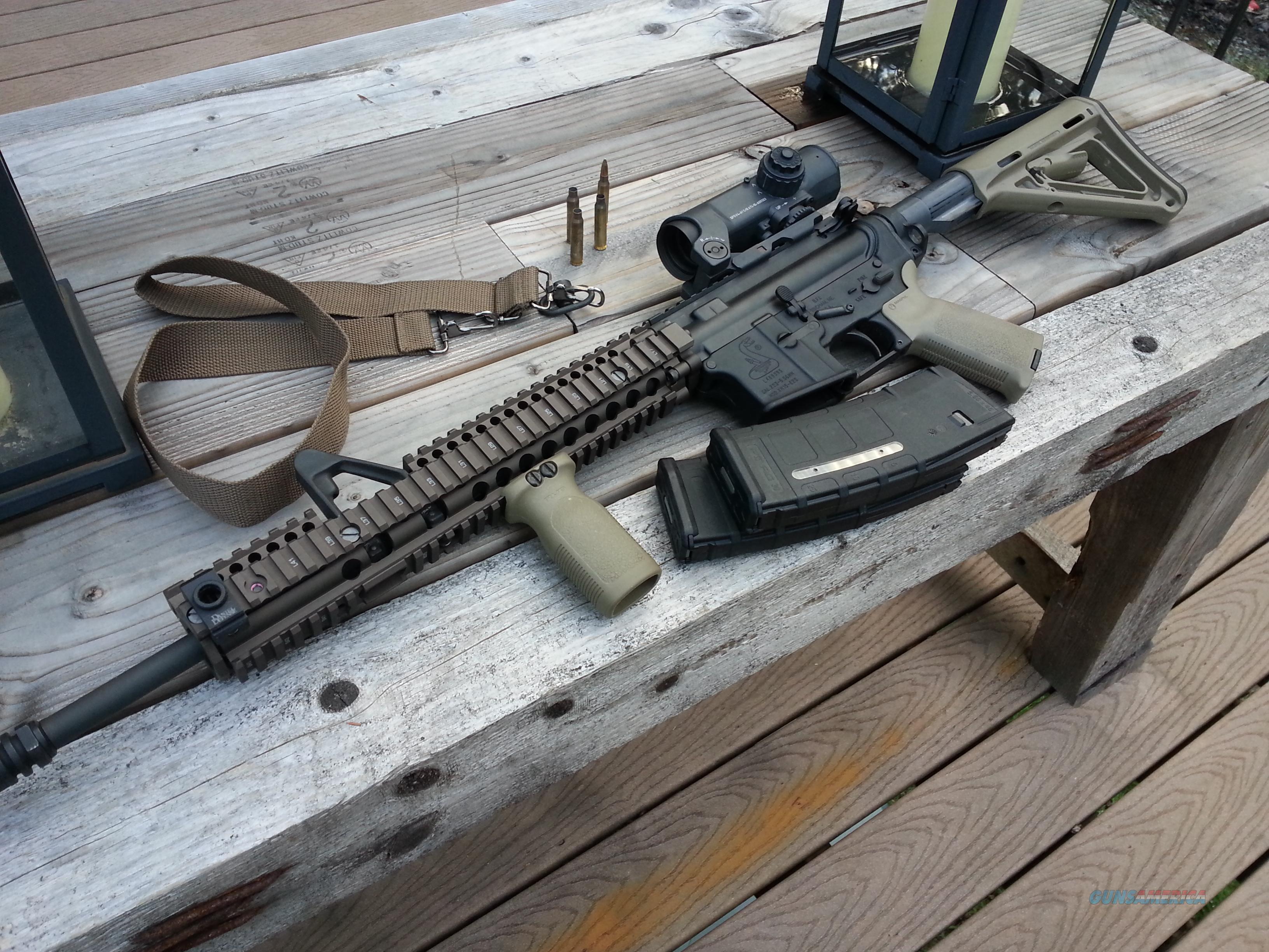 Custom Bushmaster AR-15 with Daniel Defense Quad Rail and Elcan Scope