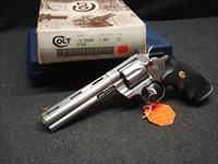 COLT PYTHON STAINLESS MATCHING SLEEVE, BOX, PAPERWORK