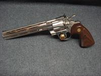 COLT PYTHON 8 INCH BARREL NICKEL