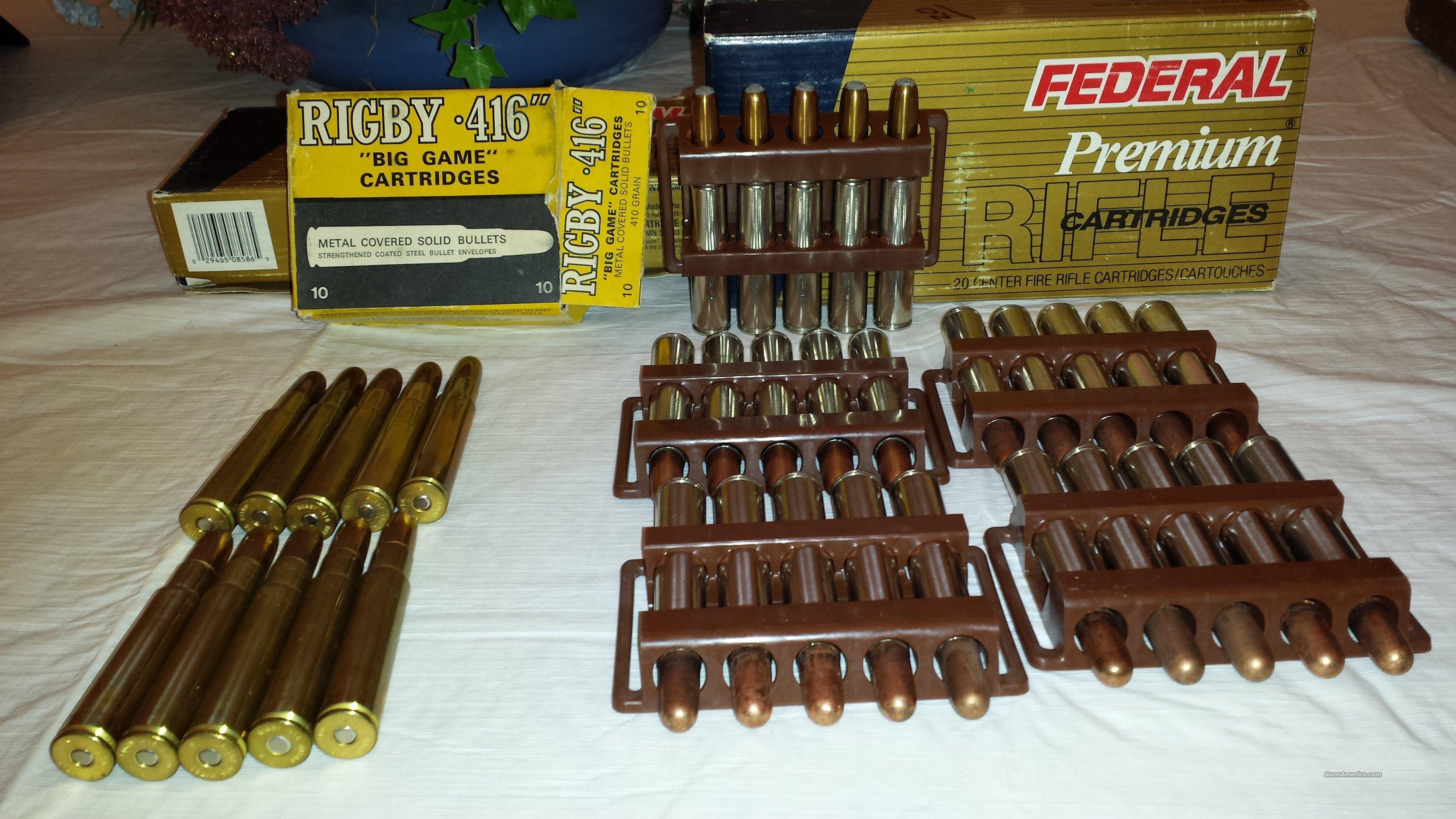 416 RIGBY (lot of 10 cartridges)