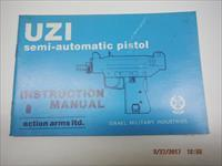UZI Factory Pistol instruction manual IMI